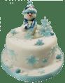 №011 Детский торт снеговик