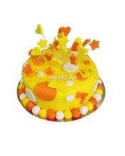 №042 Детский торт с сердцем и звездами