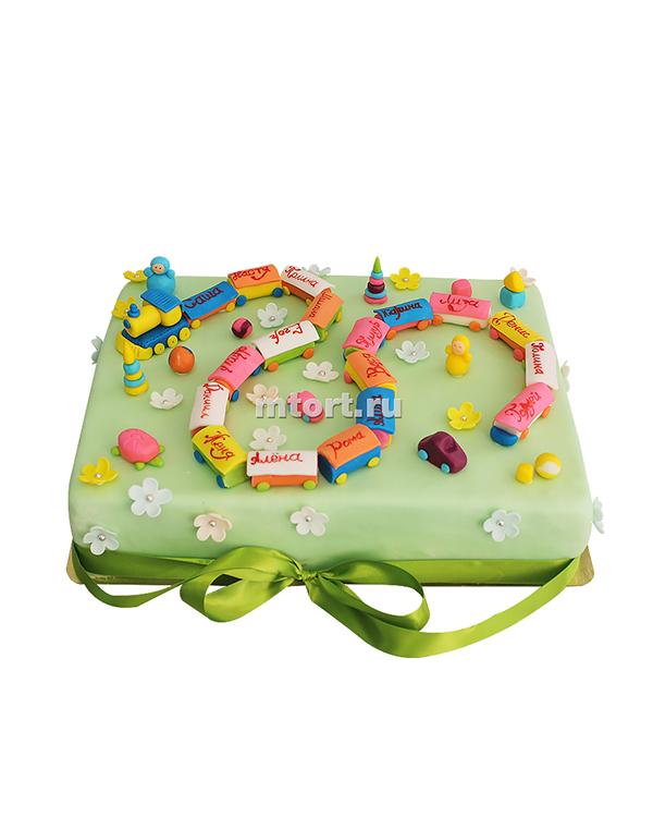 №035 Детский торт паровозик