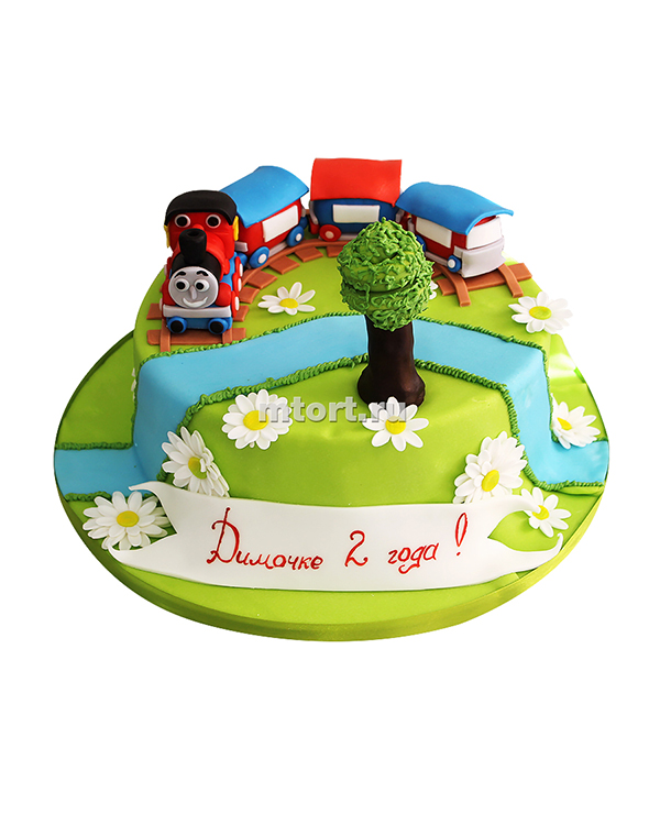 №029 Торт паровозик на 2 года