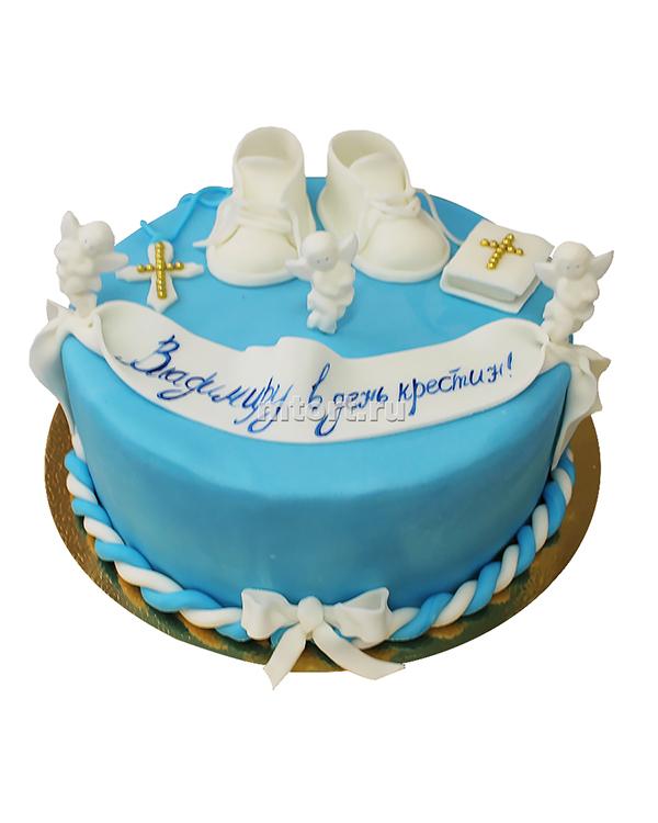 №009 Детский торт на крещение