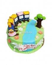 №017 Детский торт паровозик