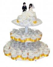 №180 Свадебный торт с капкейками
