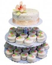 №184 Свадебный торт с капкейками