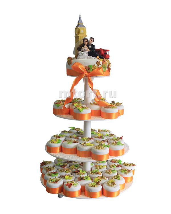 №183 Свадебный торт с капкейками