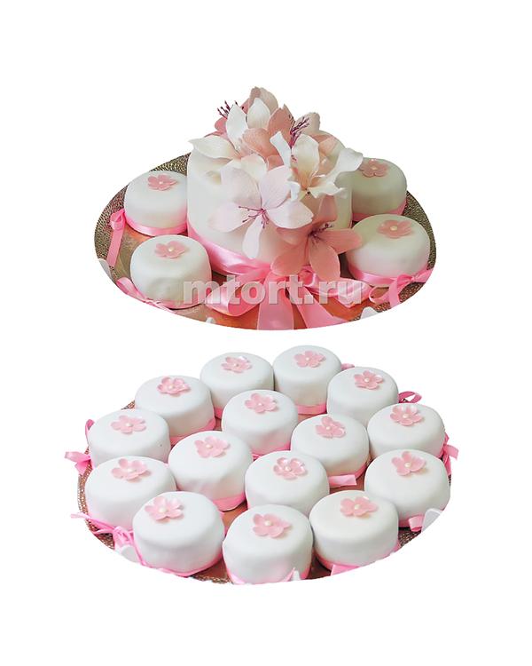 №194 Свадебный торт с капкейками