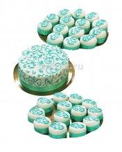 №186 Свадебный торт с капкейками