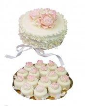 №190 Свадебный торт с капкейками