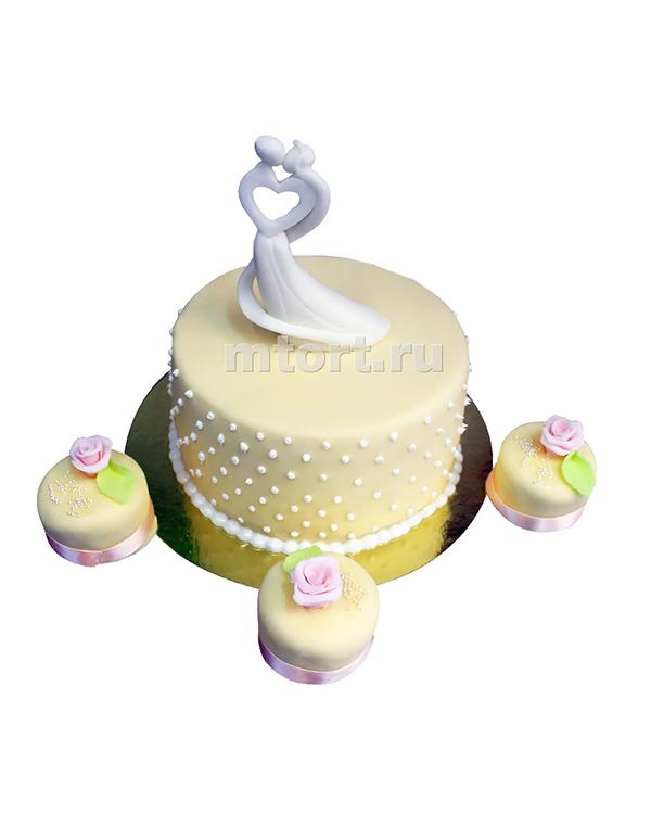 №182 Свадебный торт с капкейками