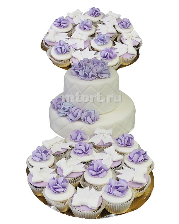 №198 Свадебный торт с капкейками