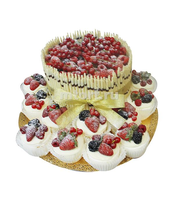 №431 Свадебный торт с капкейками