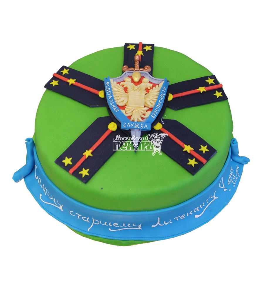 №725 Праздничный торт на 23 февраля погоны