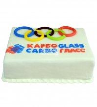 №742 Корпоративный торт для Карбо Гласс