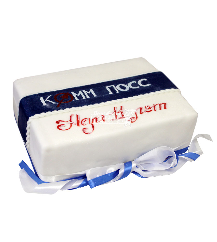 №746 Корпоративный торт для КОММ ПОСС