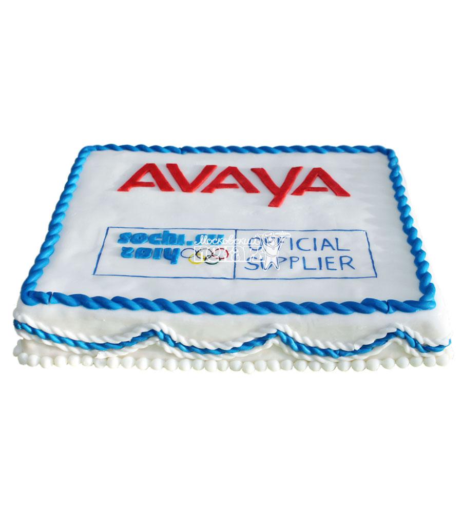 №747 Корпоративный торт для AVAYA