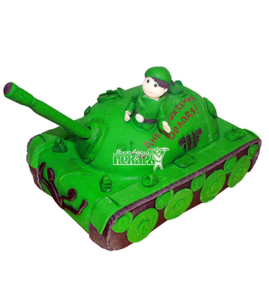 №673 3D Торт на день рождения с танком
