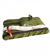 №679 3D Торт танк на день рождения