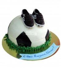 №691 3D Торт мяч и бутсы
