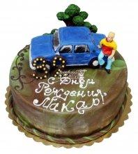 №716 Торт на день рождения с машиной