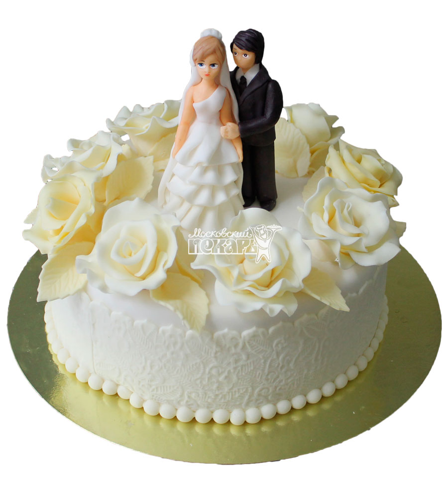Торты свадебные небольшие