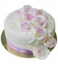 №669 Небольшой свадебный торт