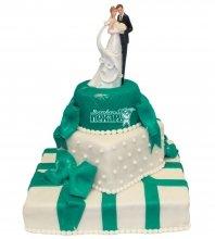 №367 Свадебный торт с бантами
