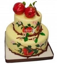 №375 Свадебный торт с яблоками