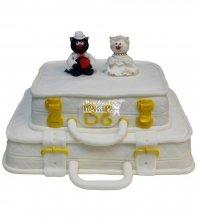 №382 Свадебный торт чемодан