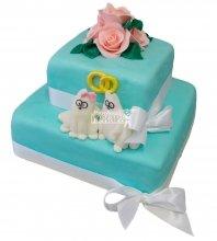 №391 Свадебный торт с цветами