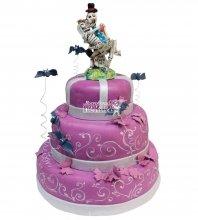№371 Свадебный торт со скелетами