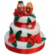 №396 Свадебный торт с матрешками