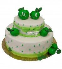 №376 Свадебный торт с яблоками