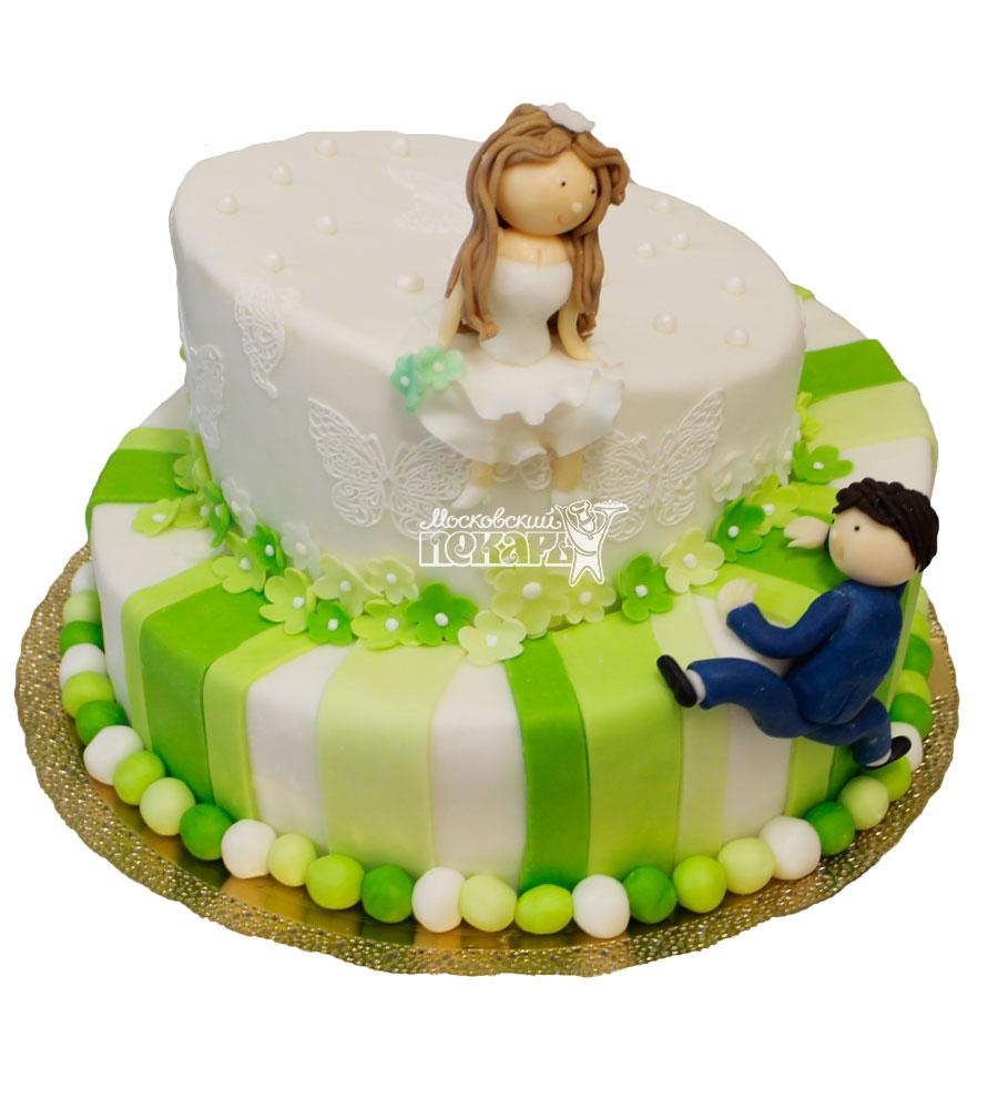 №381 Свадебный торт оригинальный