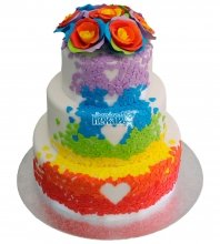 №395 Свадебный торт цветной