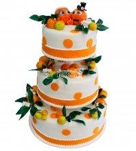 №387 Свадебный торт с фруктами