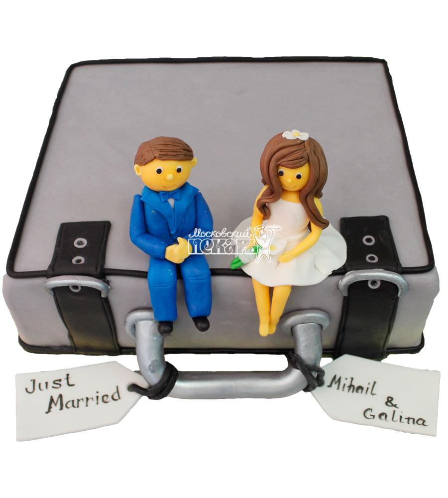 №383 Свадебный торт чемодан