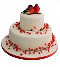 №368 Свадебный торт с птицами