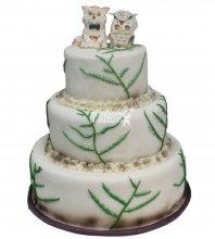 №385 Свадебный торт оригинальный