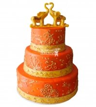 №400 Свадебный торт со слонами