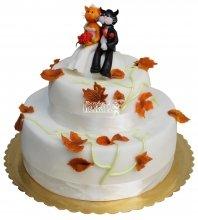 №380 Свадебный торт с кошками