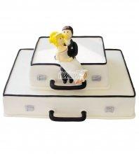 №389 Свадебный торт чемодан