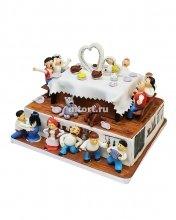 №392 Свадебный торт застолье