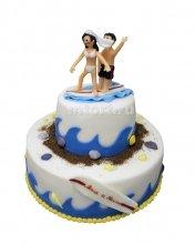 №397 Свадебный торт море