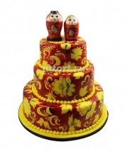 №386 Свадебный торт хохлома
