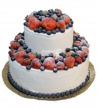 №403 Свадебный торт со сливками