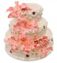 №412 Свадебный торт со сливками