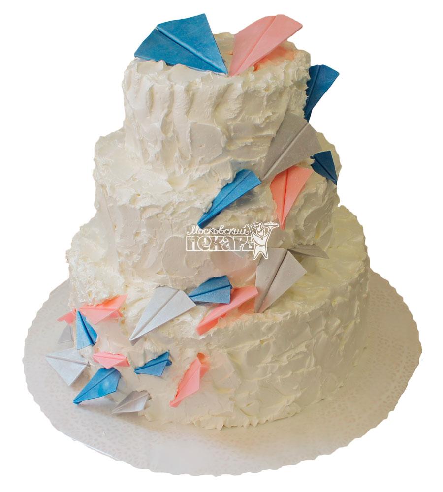 №411 Свадебный торт со сливками