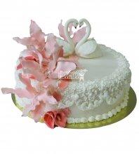 №402 Свадебный торт со сливками