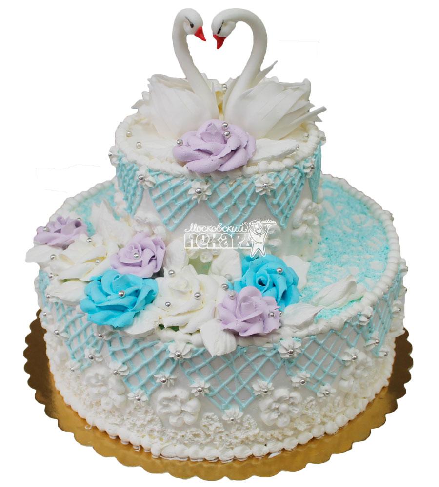 Торт свадебный со сливками