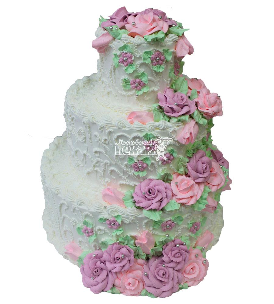№407 Свадебный торт со сливками
